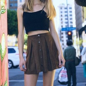 Suede brown skirt